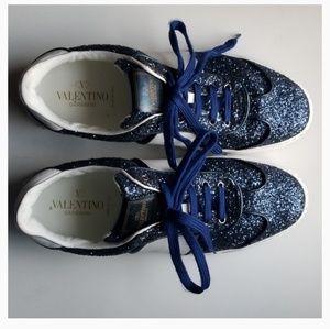 Valentino Garavani Sneakers - Blue, White, Shimmer